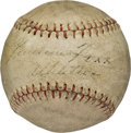 Autographs:Baseballs, Circa 1930 Jimmie Foxx Single Signed Baseball....