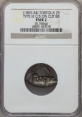 British Virgin Islands, British Virgin Islands: Tortola. British Colony Counterstamped 2 Shilling ND (1805-24) Fair2 NGC,...