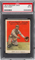 Baseball Cards:Singles (Pre-1930), 1914 Cracker Jack Hick Cady #87 PSA EX 5 - Only Eight TotalExamples on Record! ...