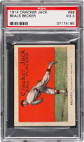 Baseball Cards:Singles (Pre-1930), 1914 Cracker Jack Beals Becker #96 PSA VG 3 - A Very UncommonCommon! ...