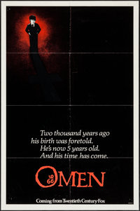 "The Omen (20th Century Fox, 1976). One Sheet (27"" X 41"") Advance Style A. Horror"