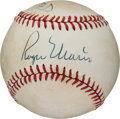 Autographs:Baseballs, 1980's Mickey Mantle & Roger Maris Signed Baseball....