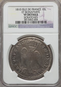 Isles de France, Isles de France: French Colony 10 Livres 1810 VF Details (Scratches) NGC,...