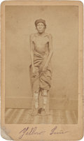 American Indian Art:Photographs, TWO CARTE-DE-VISITES - PAWNEE INDIAN SUBJECTS... (Total: 2 )