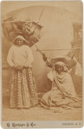 American Indian Art:Photographs, A CABINET CARD - PAPAGO SQUAWS...