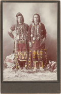 American Indian Art:Photographs, TWO CABINET CARDS - PLATEAU MEN... (Total: 2 Items)