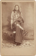 American Indian Art:Photographs, A CABINET CARD - LOVES HORSES - SIOUX...