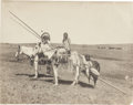 American Indian Art:Photographs, PHOTOGRAPH OF BLACKFOOT INDIAN TRAVOIS ...