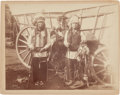 American Indian Art:Photographs, PHOTOGRAPH OF TWO SIOUX INDIANS - WILD WEST SHOW PARTICIPANTS...