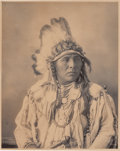 American Indian Art:Photographs, PHOTOGRAPH OF SPOTTED JACK RABBIT - CROW...