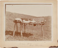 American Indian Art:Photographs, PHOTOGRAPH OF INDIAN GRAVE - CROW RESERVATION...