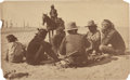 American Indian Art:Photographs, PHOTOGRAPH OF NAVAJOS PLAYING MONTE NEAR GANADO, ARIZ....