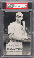 Autographs:Sports Cards, Signed 1921 Exhibits Earle Neale PSA Poor 1....