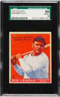 Baseball Cards:Singles (1930-1939), 1933 Goudey Babe Ruth #149 SGC 88 NM/MT 8....