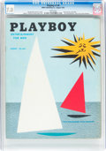 Magazines:Vintage, Playboy #9 (HMH Publishing, 1954) CGC FN/VF 7.0 White pages....