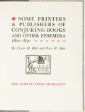 Books:Books about Books, Trevor H. Hall and Percy H. Muir. Some Printers & Publishers of Conjuring Books and Other Ephemera, 1800-1850. T...