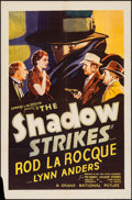 "Movie Posters:Mystery, The Shadow Strikes (Grand National, 1937). One Sheet (27"" X 41"").Mystery.. ..."