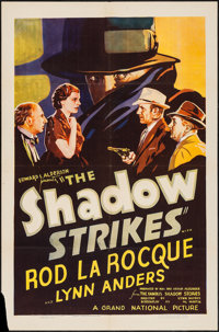 "The Shadow Strikes (Grand National, 1937). One Sheet (27"" X 41""). Mystery"