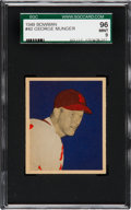 Baseball Cards:Singles (1940-1949), 1949 Bowman George Munger #40 SGC 96 Mint 9 - Pop One, None Higher!...