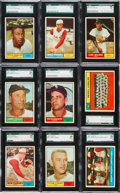 Baseball Cards:Lots, 1961 Topps baseball SGC 96 Mint 9 Collection (24). ...