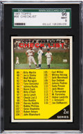 Baseball Cards:Singles (1960-1969), 1961 Topps Checklist 89-176 Red Letters #98 SGC 96 Mint 9 - The Finest SGC Example!...
