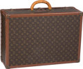 "Luxury Accessories:Travel/Trunks, Louis Vuitton Classic Monogram Canvas Trunk . GoodCondition. 24"" Width x 18"" Height x 8.5"" Depth. ..."