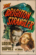"Movie Posters:Crime, The Brighton Strangler (RKO, 1944). One Sheet (27"" X 41""). Crime....."