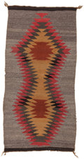 American Indian Art:Weavings, A NAVAJO DOUBLE SADDLE BLANKET. c. 1930...