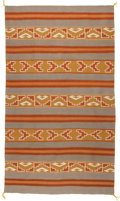 American Indian Art:Weavings, A NAVAJO REGIONAL RUG. Crystal. c. 1960...