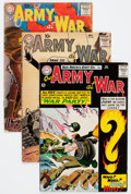 Silver Age (1956-1969):War, Our Army at War Group (DC, 1956-74) Condition: Average GD/VG.... (Total: 15 Comic Books)
