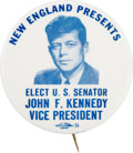 Political:Pinback Buttons (1896-present), John F. Kennedy: A Rare 2 ¼-inch Button Distributed at the 1956Democratic National Convention....