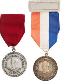 JFK's 1961 Inauguration: Two Rare Parade Badges from the Massachusetts Delegation