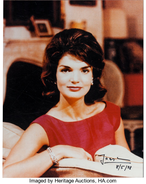 Signed Jacques Lowe Color Photo of Jacqueline Kennedy