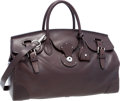 "Luxury Accessories:Bags, Ralph Lauren Dark Brown Leather Ricky Bag. ExcellentCondition . 15.5"" Width x 9"" Height x 7"" Depth. ..."