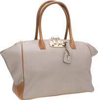 VBH Metallic Silver & Brown Leather Brera Satchel Bag with Silver Hardware Good to Very Good Condition<