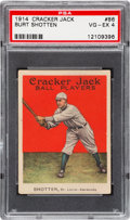 Baseball Cards:Singles (Pre-1930), 1914 Cracker Jack Burt Shotten #86 PSA VG-EX 4. - An UncommonCommon! ...