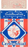 Baseball Collectibles:Tickets, 1939 Baseball Hall of Fame Grand Opening Program with Cavalcade ofBaseball & All-Star Game Ticket. ...