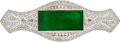 Estate Jewelry:Brooches - Pins, Jadite Jade, Diamond, White Gold Brooch. ...