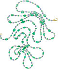 Estate Jewelry:Necklaces, Emerald, Sapphire, Gold Necklaces . ...