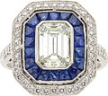 Estate Jewelry:Rings, Diamond, Sapphire, Platinum Ring. ...