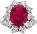 Estate Jewelry:Rings, Ruby, Diamond, Platinum Ring, Piranesi. ...