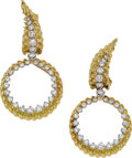 Estate Jewelry:Earrings, Diamond, Gold Earrings, Tiffany & Co., French. ...