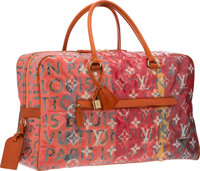 Louis Vuitton by Richard Prince Limited Edition Le Rose Defile Denim Pulp Weekender Bag Very Good Condition