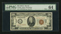 Small Size:World War II Emergency Notes, Fr. 2305 $20 1934A Hawaii Mule Federal Reserve Note. PMG Choice Uncirculated 64.. ...