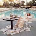 Photographs, TERRY O'NEILL (British, b. 1938). Faye Dunaway, Hollywood, 1977. Chromogenic, printed later. 43-1/2 x 43-1/2 inches (110...