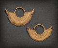 Pre-Columbian:Metal/Gold, A PAIR OF SINU GOLD EARRINGS... (Total: 2 Items)