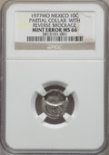 Mexico, Mexico: Republic Mint Error 10 Centavos 1977-Mo MS66 NGC,...
