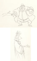 Animation Art:Production Drawing, Sleeping Beauty King Hubert and King Stefan ProductionDrawing Group (Walt Disney, 1959).... (Total: 2 Original Art)