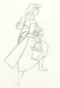 Animation Art:Production Drawing, Sleeping Beauty Briar Rose with Basket Production Drawing(Walt Disney, 1959)....