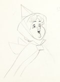 Animation Art:Production Drawing, Sleeping Beauty Flora Animation Drawing (Walt Disney, 1959)....